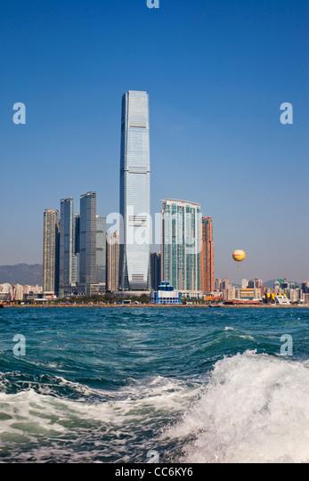 China, Hong Kong, West Kowloon, International Commerce Centre Building (ICC) - Stock-Bilder