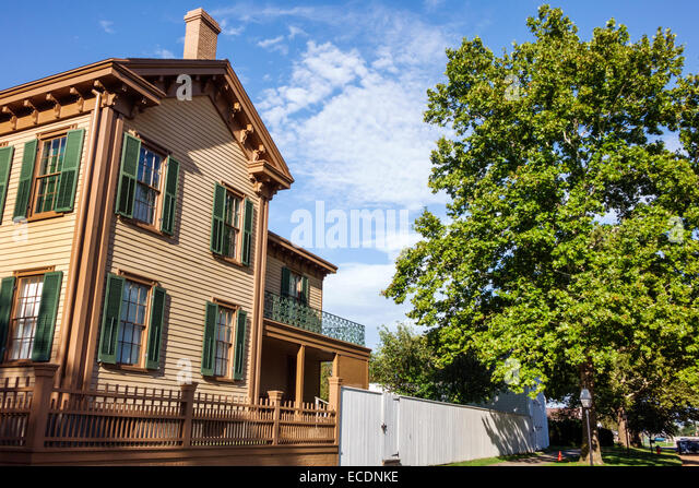 Illinois Springfield Abraham Lincoln Home National Historic Site East Jackson Street South 8th - Stock Image