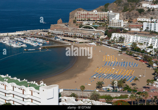 Puerto Rico on Gran Canaria in The Canary Islands - Stock Image