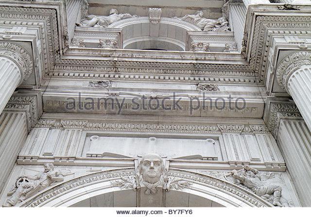 Philadelphia Pennsylvania Market Street Penn Square City Hall public building Second Empire style architect John - Stock Image