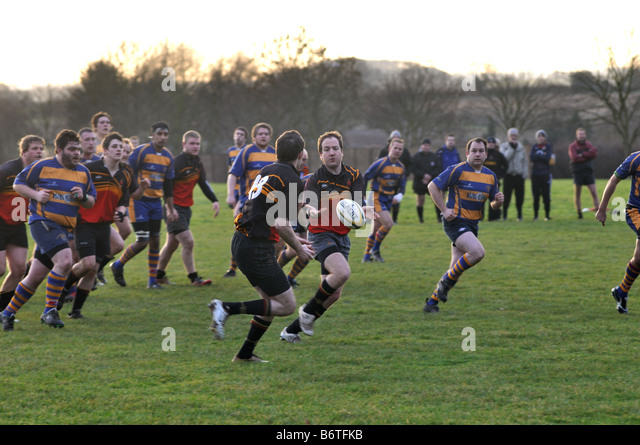 Rugby Union at club level, Leamington Spa, England, UK - Stock Image