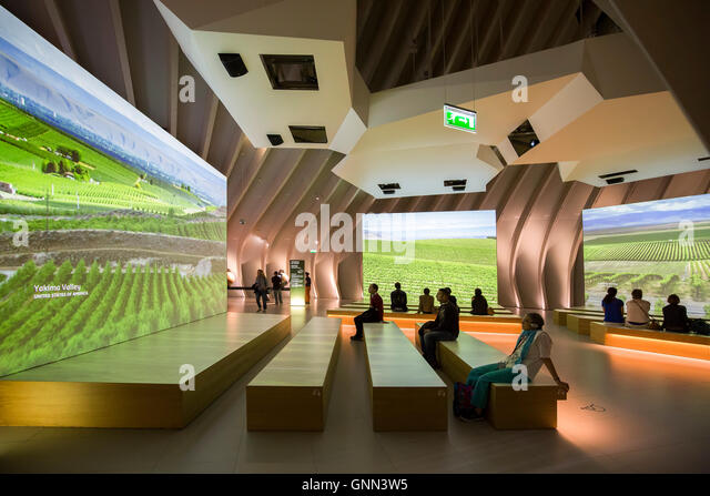 La Cité du Vin, Wine house museum, inside. Bordeaux, Gironde. Aquitaine France Europe - Stock Image