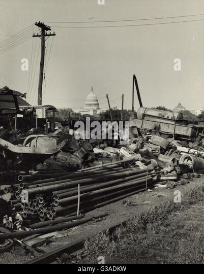 Junkyard. Washington, D.C. Date 1938 Aug. - Stock Image