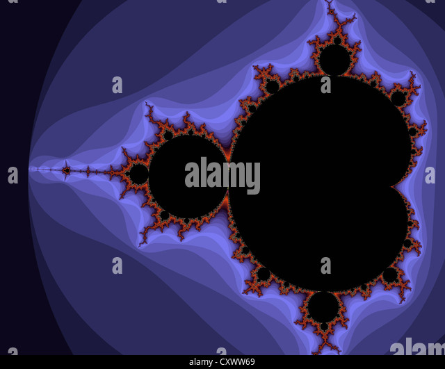 Mandelbrot set, fractal pattern - Stock Image