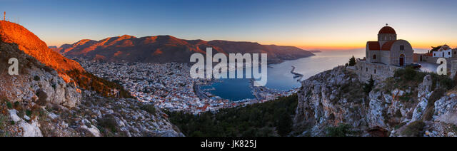 Monastery of St. Sava above Kalimnos town in Dodecanese, Greece. - Stock Image