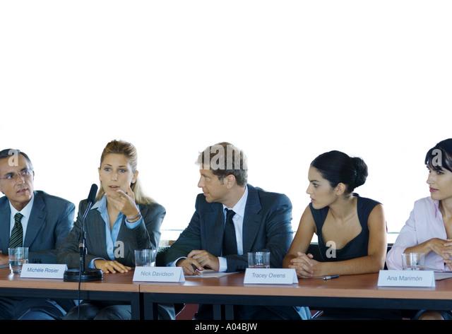 Businesspeople in committee meeting - Stock Image