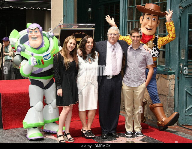 BUZZ LIGHTYEAR RANDY NEWMAN FAMILY WOODY RANDY NEWMAN HONORED WITH A STAR ON THE HOLLYWOOD WALK OF FAME HOLLYWOOD - Stock Image
