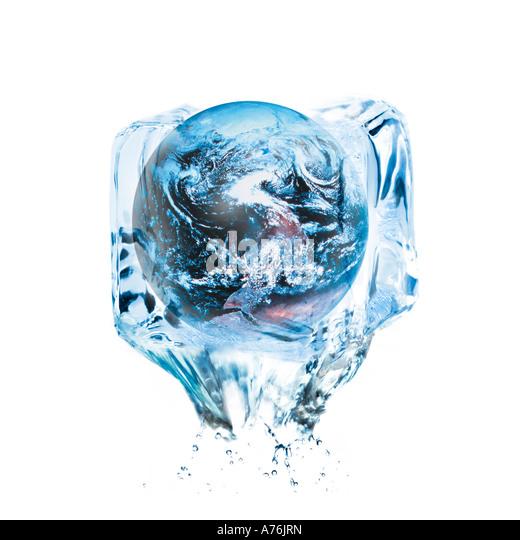 Symbol for global warming, digital composite - Stock Image