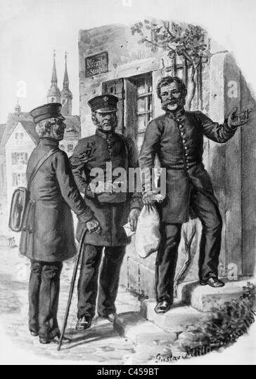 Mailmen in the 19th century. - Stock-Bilder