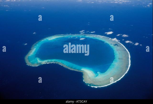 aerial view ,aerien,aerial,vue aerienne,Bassas da India fait partie du groupe des les parses de l oc an Indien It - Stock-Bilder