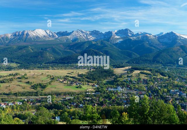 The High Tatra Mountains, Malopolska, Poland - Stock Image