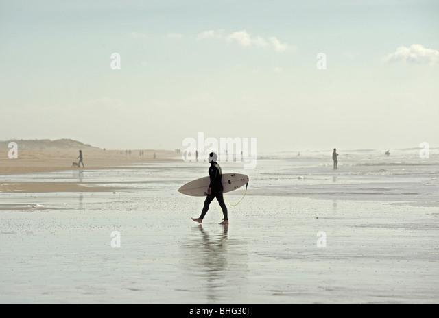surfer at el palmar beach, cadiz, andalucia, spain - Stock Image