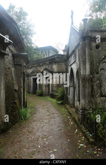 'Circle of Lebanon Vaults' at the Highgate Cemetery West in London England - Stock Image