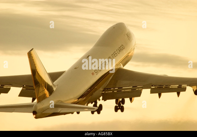 Cargo plane of Singapore Airlines - Stock Image