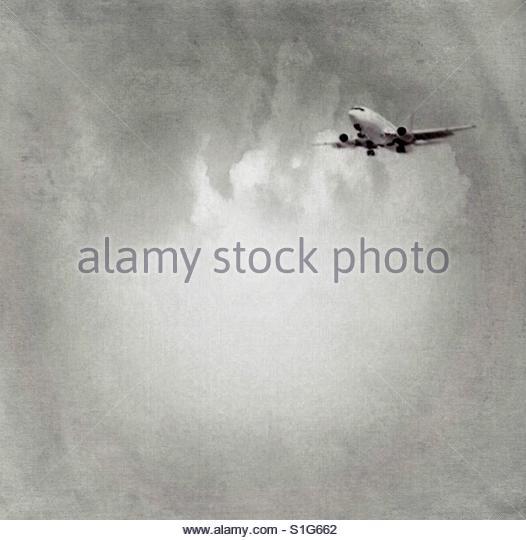 aeroplane flying' - Stock Image