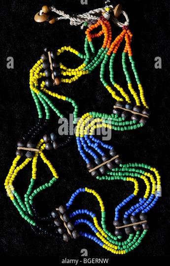 beaded belt from Kalimantan, Indonesia - Stock Image