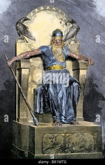 Odin supreme god in Norse mythology - Stock Image