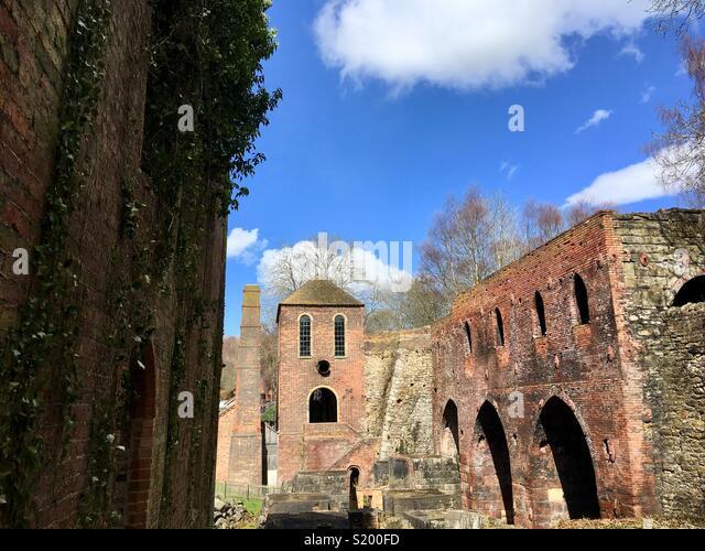 Engine house, blast furnaces, Blists Hill, Ironbridge Gorge World Heritage Site, Shropshire, England - Stock Image