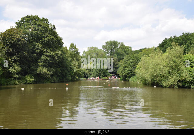 Heath pool stock photos heath pool stock images alamy for Hampstead heath park swimming pool
