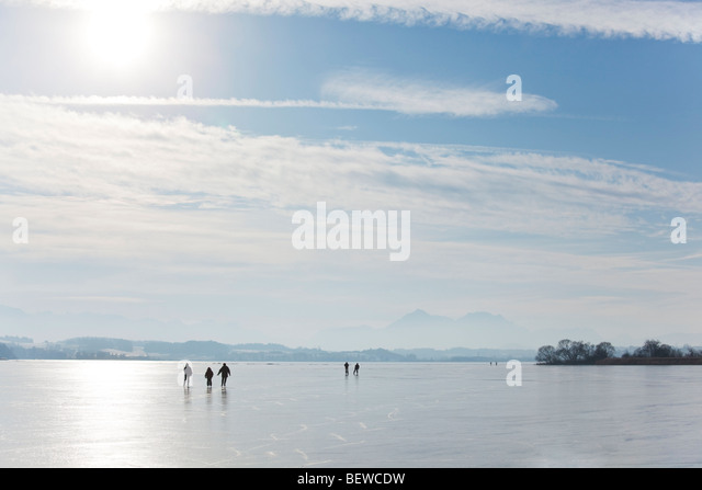 frozen Lake Waller, Austria - Stock Image