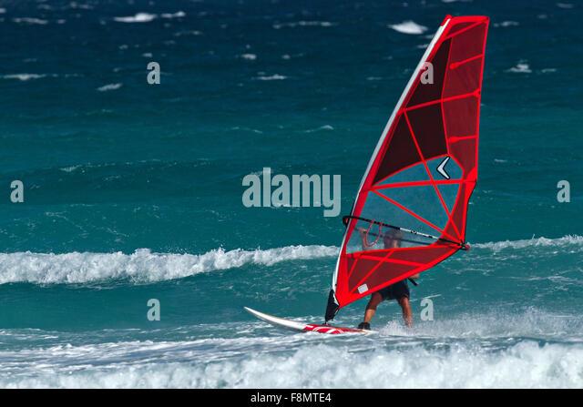 Wind Surfing, Esperance, Western Australia - Stock Image