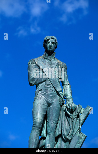 Barbados Bridgetown Lord Nelson in Trafalgar Square - Stock Image