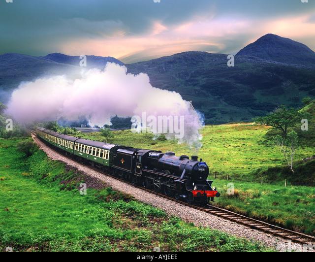 GB - SCOTLAND: 'The West Highlander' Steam Train - Stock Image