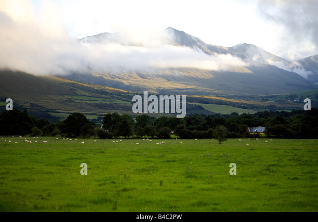 MacGillycuddy's Reeks, Killarney National Park, Iveragh Peninsula, County Kerry, Munster, Republic of Ireland - Stock Image