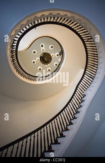 USA, Alabama, Montgomery, Alabama State Capitol, b. 1851, interior staircase - Stock-Bilder