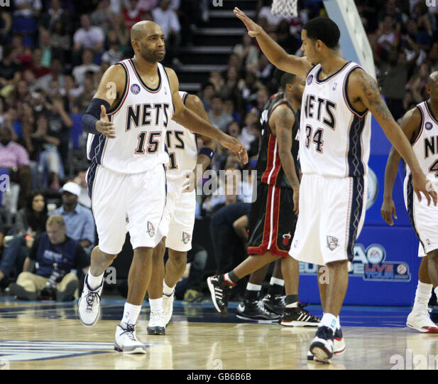 Basketball - NBA - Pre-Season Tour - Miami Heat v New Jersey Nets - O2 Arena - Stock Image