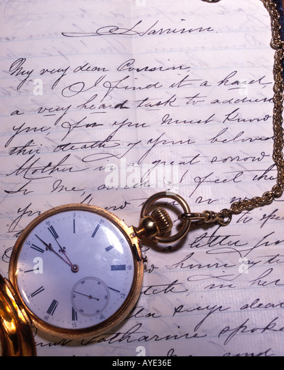 sympathy letter - Stock Image