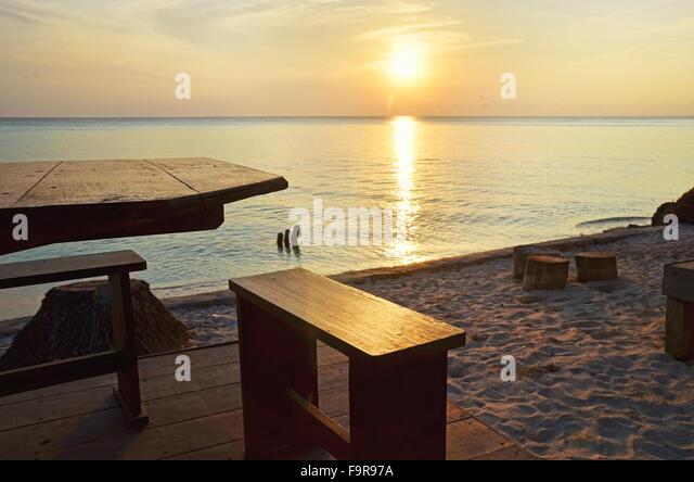 Sunrise in Biduk-Biduk village, Berau, East Borneo - Stock Image