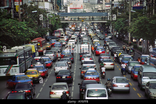 traffic jams in bangkok essay Figures from the thai capital bangkok offer an indication of the health costs of  traffic congestion according to a us environmental information.
