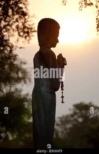 Buddha statue, Ayutthaya, Thailand - Stock Image