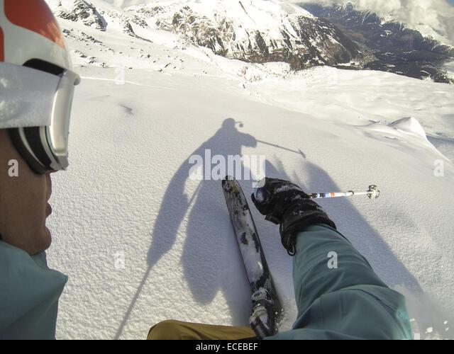 Austria, Salzburg, Gastein, Downhill skiing - Stock Image