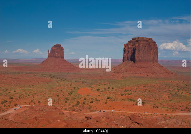 World famous Monument Valley - Stock-Bilder