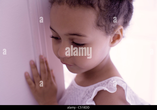 Little girl, portrait - Stock Image