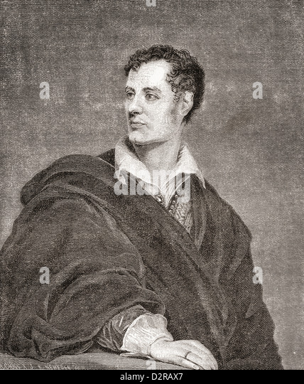 George Gordon Byron, 6th Baron Byron, later George Gordon Noel, 1788 – 1824, commonly known simply as Lord Byron. - Stock Image