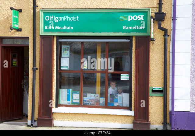 small irish rural post office oifig an phoist ramelton county donegal republic of ireland - Stock Image