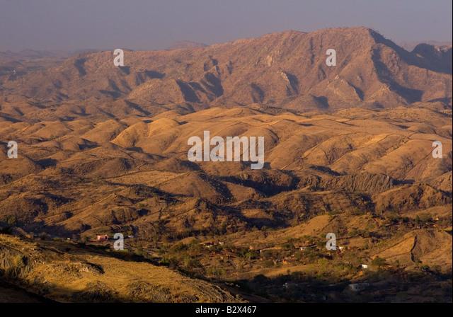 Aravalli Hills near Udaipur, Rajasthan, India, Subcontinent, Asia - Stock-Bilder