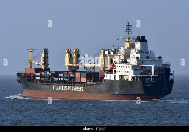 General Cargo Ship Atlantic Runner - Stock Image