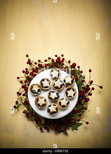 Homemade fruit chrismas Mince pies - Stock Image