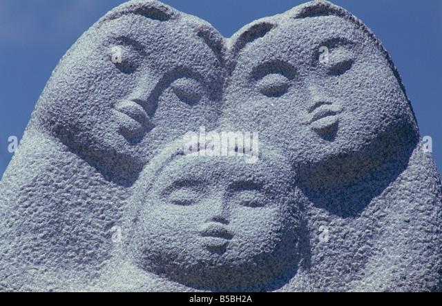 Detail of sculpture Taechong Park Pusan South Korea Asia - Stock Image