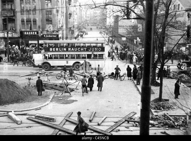 BVG strike in Berlin, 1932 - Stock Image