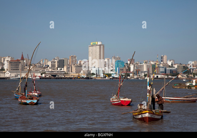 Fishing boats in Catembe, Maputo, Mozambique - Stock Image