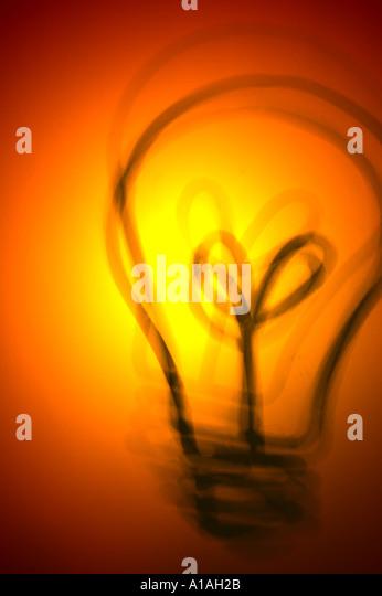 Light bulb illustration Ideas Idea - Stock Image