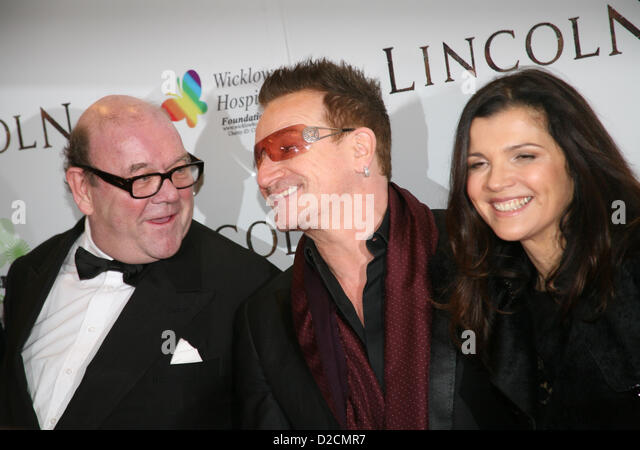 Paul McGuinness, Bono, Ali Hewson, at the Lincoln film premiere Savoy Cinema in Dublin, Ireland. Sunday 20th January - Stock Image