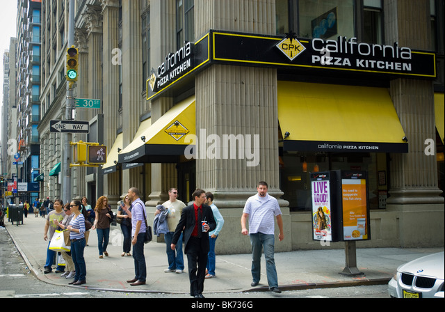 A Branch Of The California Pizza Kitchen Restaurant Chain In New York    Stock Image