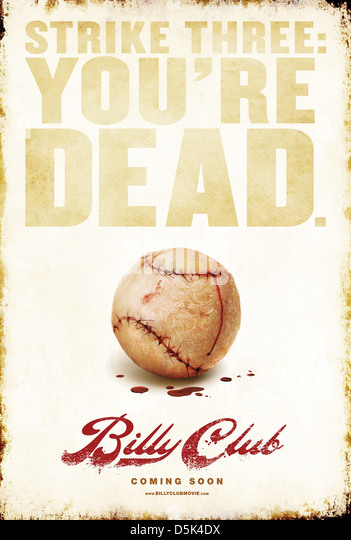 BASEBALL MOVIE POSTER BILLY CLUB (2012) - Stock Image