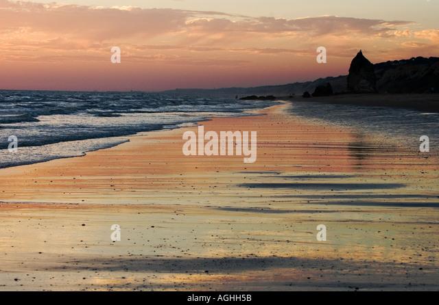 El Loro beach Mazagon Huelva Spain - Stock Image